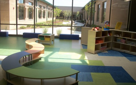 The Extended Learning Areas face courtyards.
