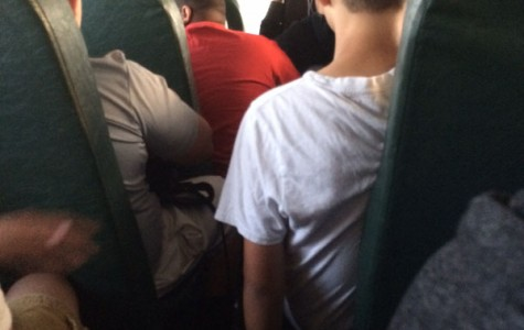 Inside an overcrowded bus
