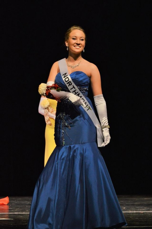 Senior Caitlin Cuesta competes in the 2014 Tipp City Mum Pageant.