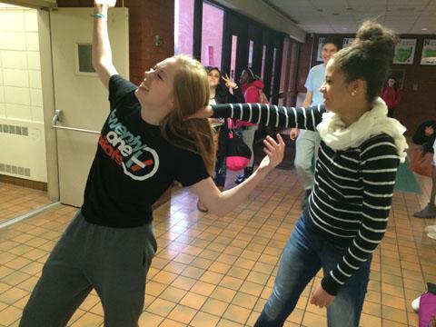 A heated debate between junior Aubri Pritchett and senior Gab Schuh goes horribly wrong.