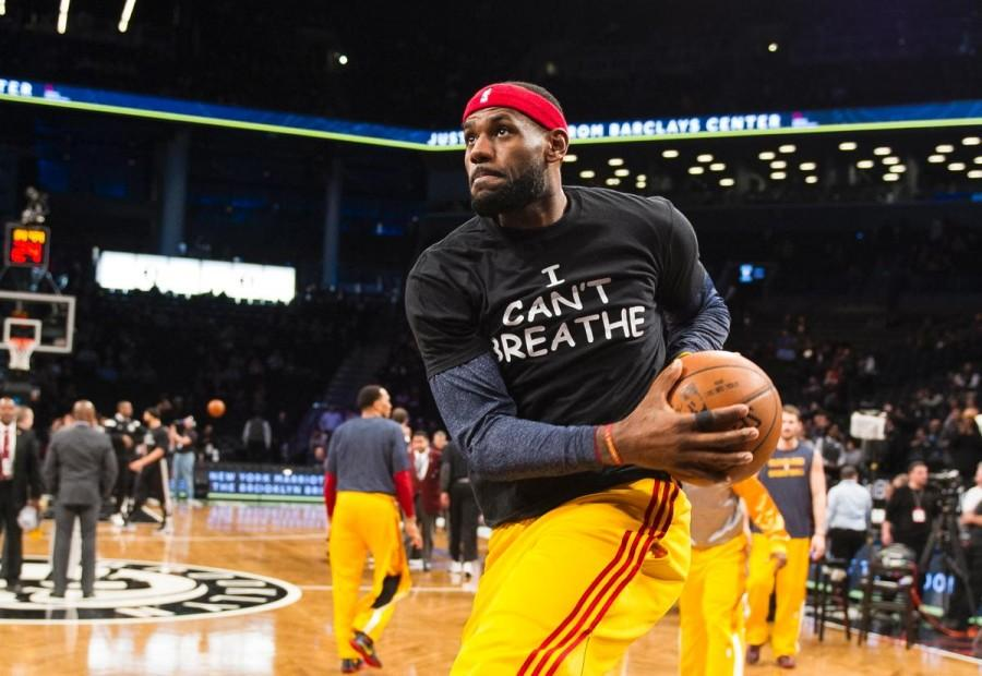 NBA star Lebron James shows his disapproval of unpunished police brutality in an