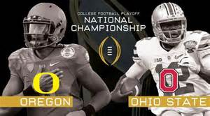 Oregon prepares to face off against Ohio State in the National Championship on Monday, January 12 (courtesy of Fox59.com).
