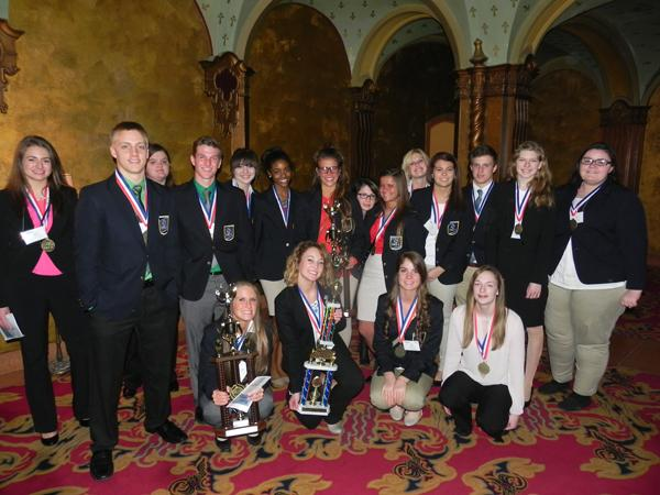 Top Ten contestants and National CDC qualifiers after the award ceremony held at the  Ohio Theatre in Columbus.