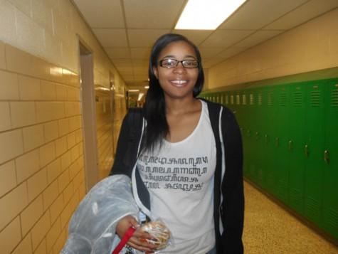 """On my way to class.""  -senior Sean'ae Banks"