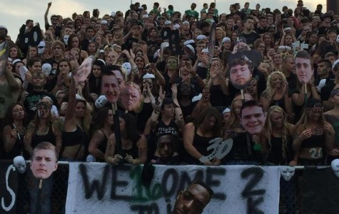 The Northmont student section as the football season opener against Hilliard Darby.