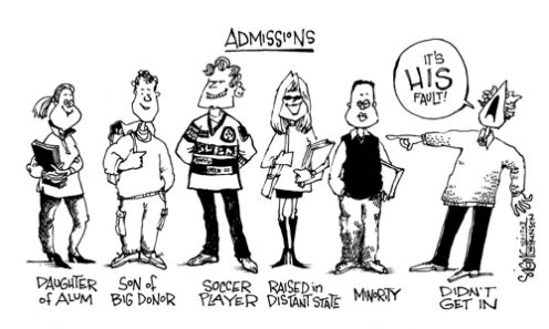 Affirmative Action is usually not to blame for unfair admittance policies. Photo courtesy of Google Images.