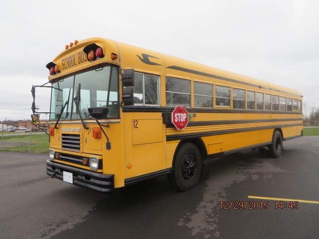 One of the school buses being auctioned off at the high school on January 16 (Photo courtesy of JWC Auctions).