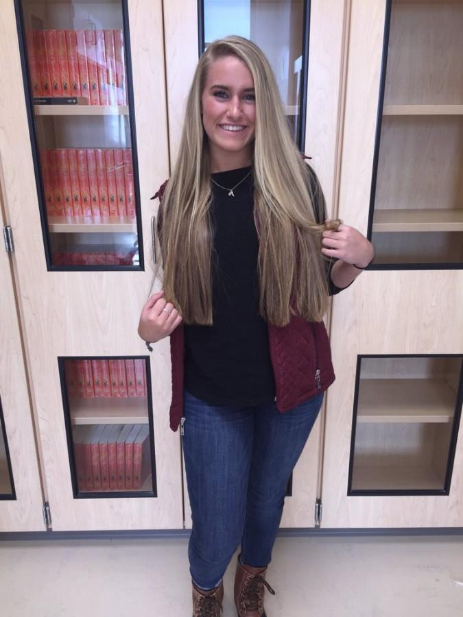 Senior Brittany Weatherford has heard she is leading the polls in Best Hair...and Best Flirt!