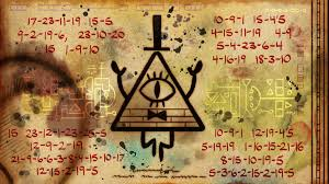 One of the end cards of season 2, featuring Bill Cipher (and a vigenere cipher)