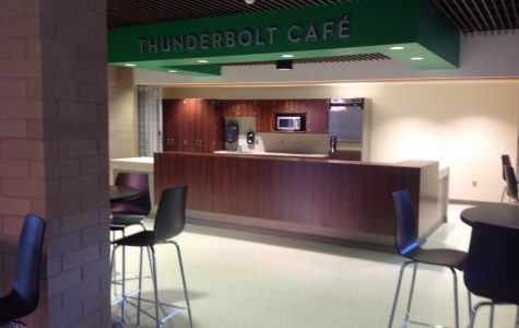 The Thunderbolt Cafe where coffee, lemonade, hot chocolate, and other drinks are served during the week, from 7:30-7:50 am.