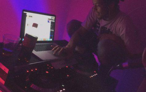 DJ Behind the Desk
