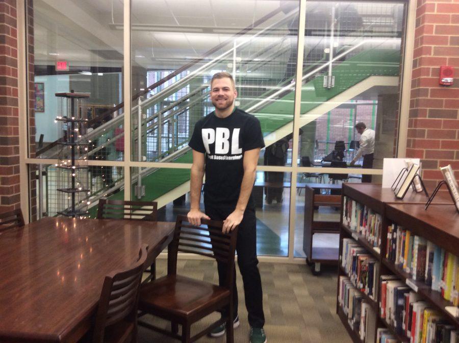 Mr. Cory Caudill wears his PBL shirt