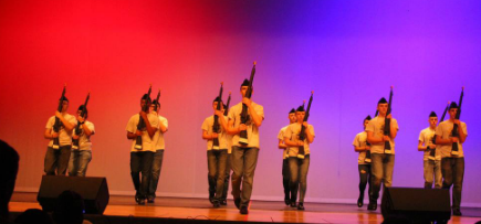 NJROTC Armed Exhibition performs at the Northmont Showcase (photo courtesy of Brooke Carver).