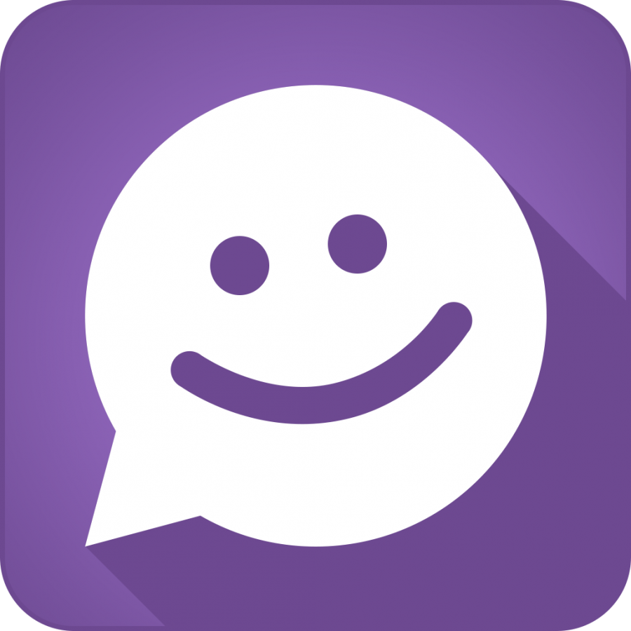The icon for the app MeetMe is a smiling conversation bubble (Photo courtesy of MeetMe, Inc).