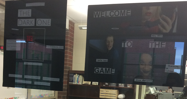 Posters outside the IMC promote the student-created short films.