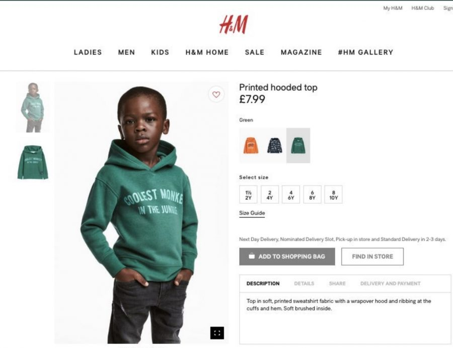 The+H%26M+%22Coolest+Monkey%22+sweatshirt+has+caused+outrage+among+those+who+see+the+ad+as+racist+%28as+seen+on+the+H%26M+website%29.