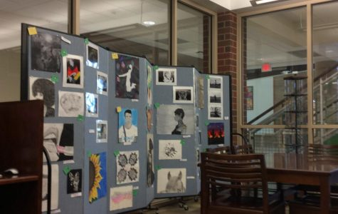 Student's artwork from the 2017 art show.