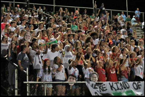 The student section during the first home game photo courtesy of Northmontschools.com