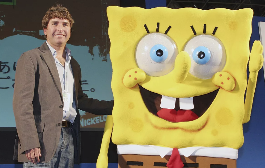 Stephen Hillenburg at the 2006 Tokyo International Anime Fair (Curtesy Getty Images)