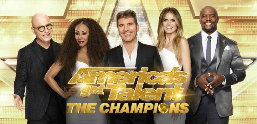 The logo for the new season of America's Got Talent (AGT) with the returning judges and the new host Terry Crews (inquisitr.com).