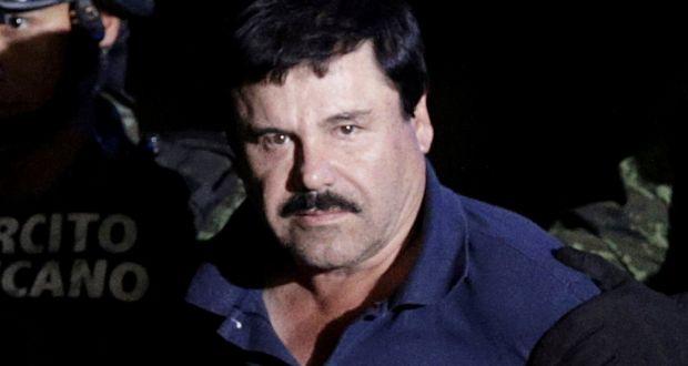 El Chapo during his 2016 arrest.