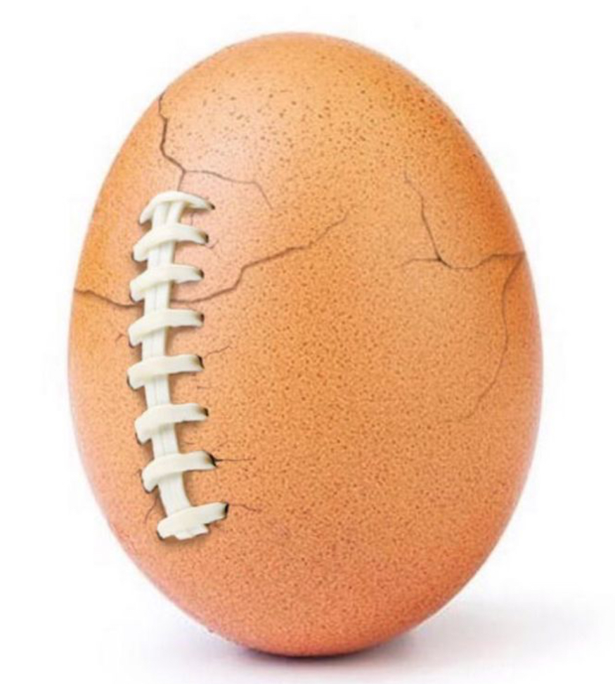 Cracked egg with football laces (image courtesy of the verge.com)