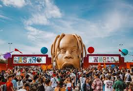 Picture from outside Travis Scotts Astroworld Festival