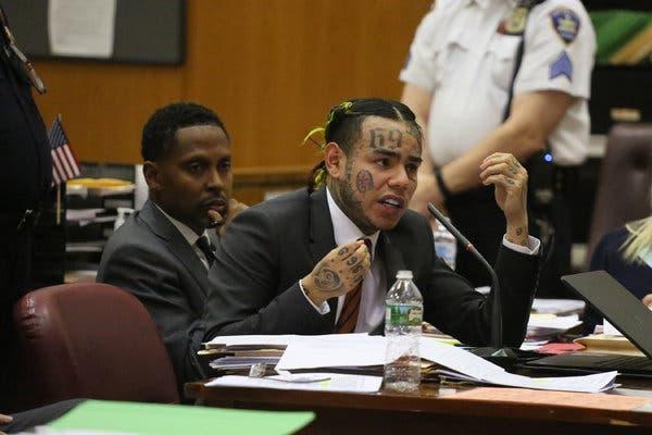 Tekashi in court photo courtesy off newyorktimes.com