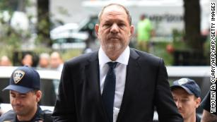 Weinstein walking into court for the New York trial.
