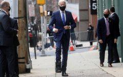 President-elect Joe Biden wearing his boot to protect his foot. Credit-REUTERS/Leah Millis