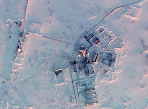 Satellite imagery of Russia's new base