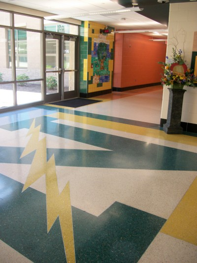 Northmonts N is proudly displayed on the floor of the front entrance.