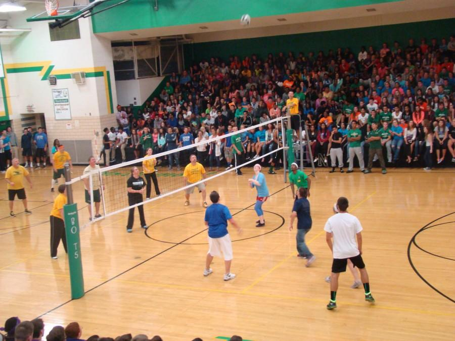 Staff vs. Student Volleyball ~ October 2, 2014