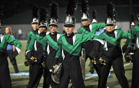 The marching band performs their 2014 competition show