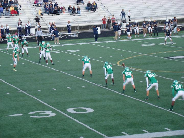 The+freshman+football+team+prepares+for+the+kick-off+at+their+last+home+game+of+the+season+versus+Fairmont.+%28Photographer%3A+Dreana+Richie%29