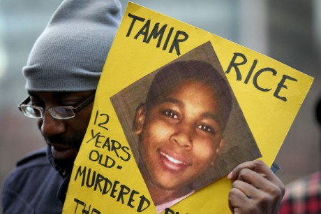 Protesters call for justice for Tamir Rice. Courtesy of Cleveland.com.