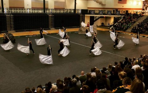 The 2015 Winterguard competes at their first competition in Hamilton. (Photo Courtesy of Ms. Erin Hunkemoeller)