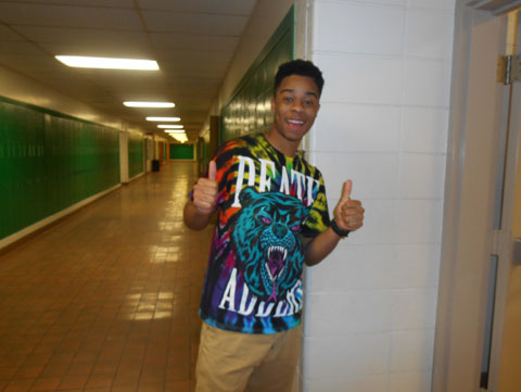 Going to the restroom.  -senior Jay Brown