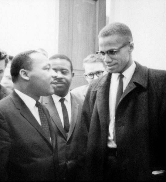 Martin Luther King Jr. and Malcolm X before the start of a press conference on March 26, 1964. This is one of the only known photographs of the two civil rights activists together. (Photo: Courtesy of The Library of Congress)