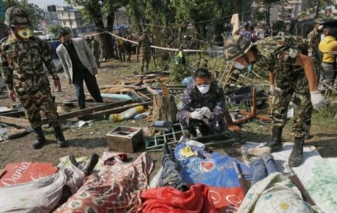 Aftermath of the Nepal earthquake, courtesy of BBC