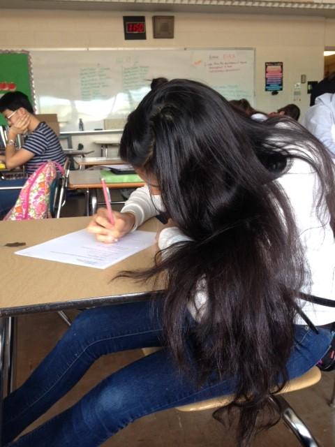 Junior Isha Mishra Works on Her Latest Test