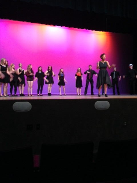 The+A+Capella+group+sings+Brave+by+Sara+Bareilles%2C+with+junior+Sydney+Thomas+singing+the+main+vocals.