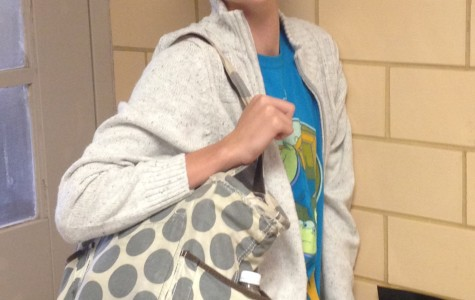 Sophomore Kyle Davis carries a bag that could be subject to search at local movie theaters.