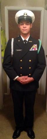 Senior Dustin Kallmeyer in his ROTC uniform.