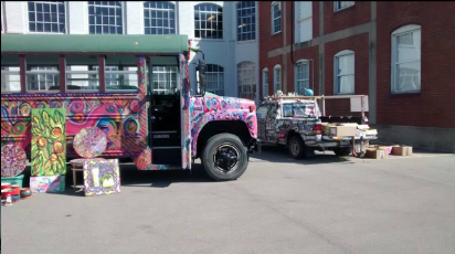 The Art Truck parked at an event called