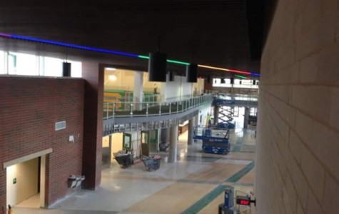 A look from the Science Wing onto Thunderbolt Way.