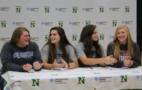 Senior softball players Whitney Fiedler, Emily and Lizzie Ritchie, and Taylor Hoover discuss their futures as college athletes.