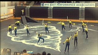 Northmont Winter Guard performs their show The Hive.