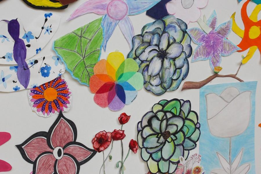 A small sample of the beautiful flowers and springtime creatures featured in this new art showcase.