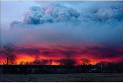 The wildfire burning in Alberta, Canada (courtesy of The Chicago Tribune).